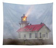 Mystical Point Cabrillo Lighthouse California Tapestry