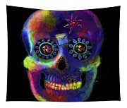 Mystico Sugarskull Of Letters Tapestry