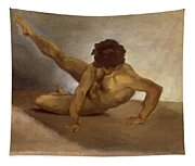 Naked Man Reversed On The Ground Tapestry