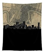 New Orleans Skyline Map Tapestry