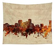 New Orleans Skyline Sepia Tapestry