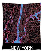 New York City Map Tapestry by Helge