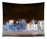 New York Skyline Illustration 1 Tapestry