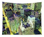 Night, Chicago, Illinois, Usa Tapestry