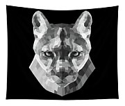 Night Mountain Lion Tapestry