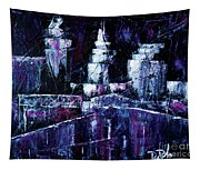 Night Town Cle Tapestry
