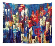 Nightlife Cleveland Tapestry