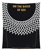 No1040 My On The Basis Of Sex Minimal Movie Poster Tapestry