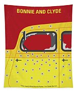 No1072 My Bonnie And Clyde Minimal Movie Poster Tapestry