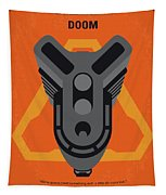 No1075 My Doom Minimal Movie Poster Tapestry