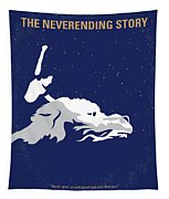 No975 My The Neverending Story Minimal Movie Poster Tapestry