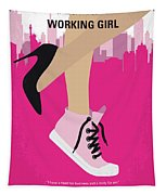 No987 My Working Girl Minimal Movie Poster Tapestry