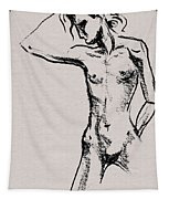 Nude Model Gesture Xxi Tapestry