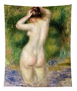 Nude Wading, Circa 1880 Tapestry