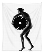Nude Woman With Saw Blade 1 Tapestry