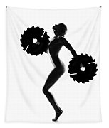Nude Woman With Saw Blade 4 Tapestry