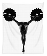 Nude Woman With Saw Blade 5 Tapestry
