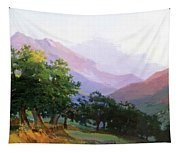 Oaks In The Mountains Of Carrara Tapestry