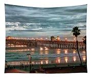 Oceanside Pier At Dusk Tapestry