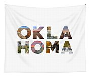 Oklahoma Typography II Tapestry