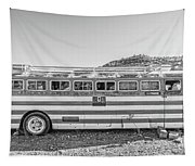 Old Abandoned Vintage Bus Jerome Arizona Tapestry