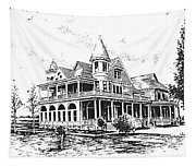 Old Daly Mansion Hamilton Montana Tapestry