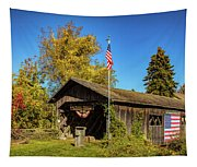 Old Hollow Covered Bridge Tapestry
