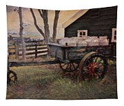 Old Milk Wagon Tapestry