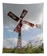 Old Rusty Windmill. Tapestry