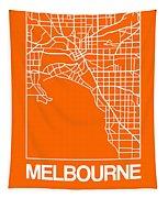Orange Map Of Melbourne Tapestry