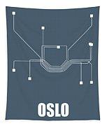 Oslo Subway Map Tapestry