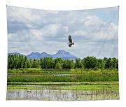Osprey Over The Wetlands Tapestry