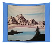 Overlooking The Lake Tapestry