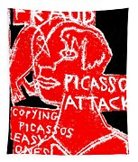 Pablo Picasso Attack 6 Tapestry