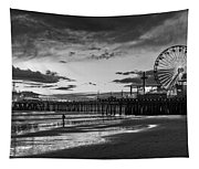 Pacific Park - Black And White Tapestry