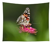 Painted Lady Butterfly At Rest Tapestry