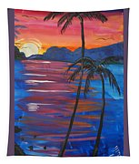 Palm Trees And Water Tapestry
