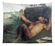 Pan Whistling At A Blackbird 1863 Tapestry