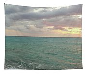 Panoramic View Of Aphrodite's Birthplace Or Petra Tou Romiou In Cyprus Tapestry