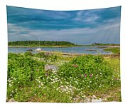 Paradise In Maine Tapestry