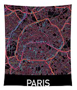 Paris City Map Tapestry by Helge