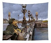 Paris-pont Alexandre Terzo Tapestry