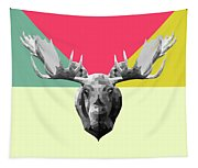 Party Moose Tapestry