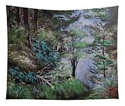 Path Thru The Woods Tapestry
