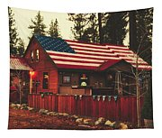 Patriotic Bar And Grill Tapestry