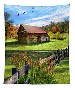 Peaceful Country Morning Tapestry