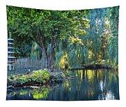 Peaceful Oasis - Japanese Garden Lake Tapestry