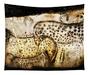 Pech Merle Horses And Hands Tapestry