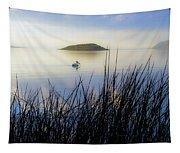 Pelican On Klamath Lake Tapestry