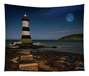 Penmon Lighthouse And Puffin Island Tapestry